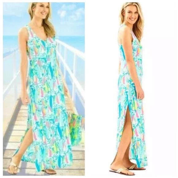 Lilly Pulitzer Kerri Maxi Dress Maxi Long Dress XL